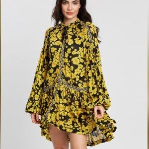 Free People love letter floral tunic